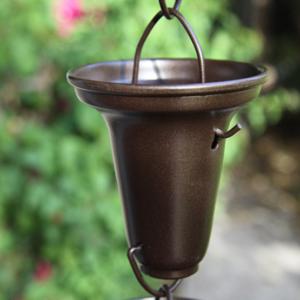best price #7228BR -- Bronze Flared Cups aluminum rain chain
