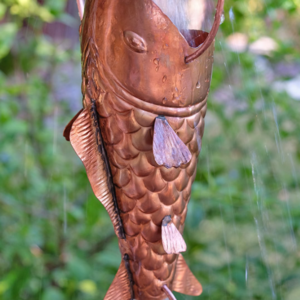 best price Fancy Koi Fish copper rain chain #S-103