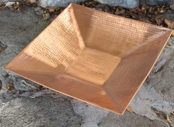 best price Square Hammered Copper Dish #4298