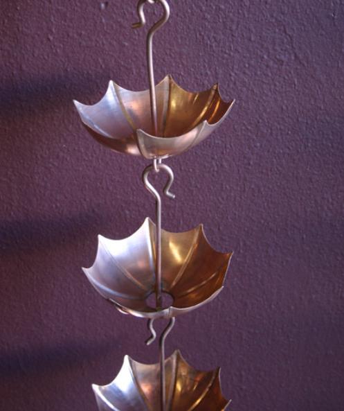 best price Umbrella Cups copper rain chain #4237